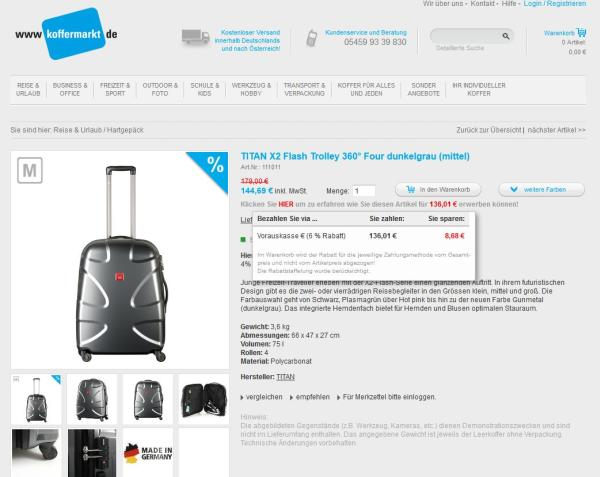 Titan X2 Koffer bei Koffermarkt.com