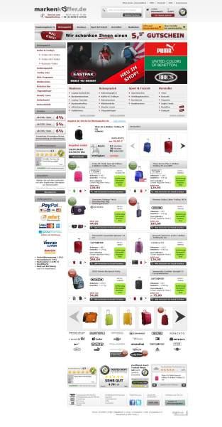 Neues Shopdesign von Markenkoffer