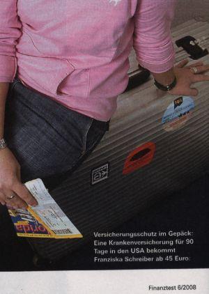 Rimowa in der Werbung Finanztest