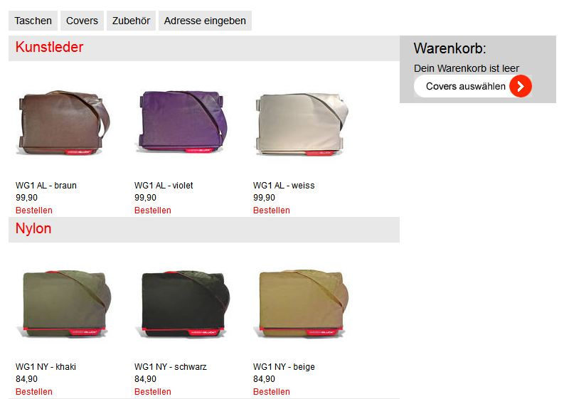 Wiesenglück Onlineshop altes Design
